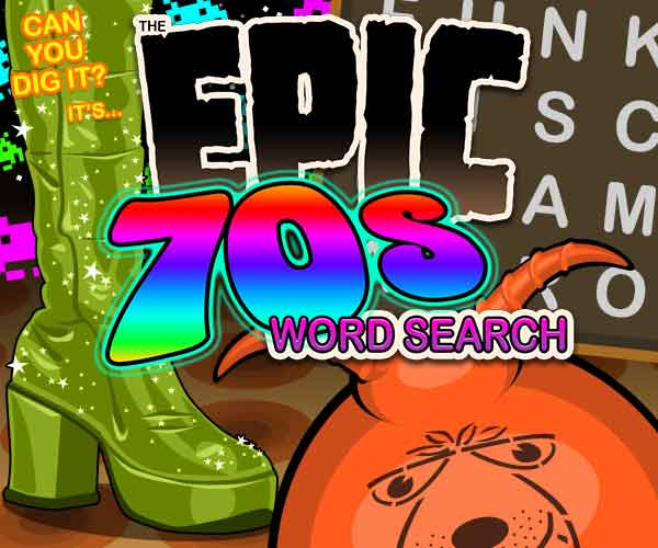 Epic 70s Word Search