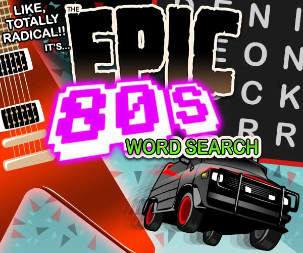Epic 80s Word Search