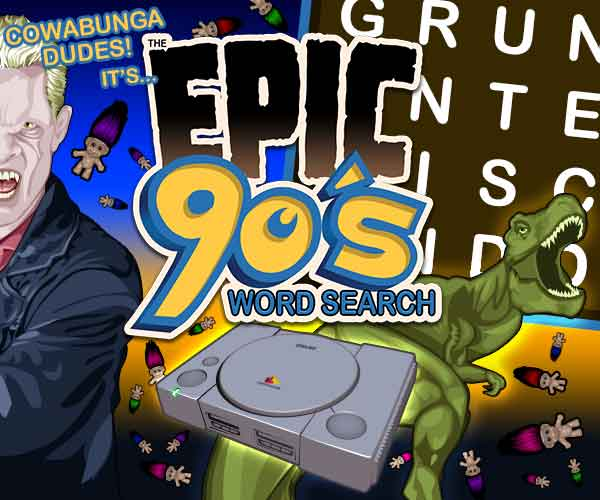 Epic 90s Word Search