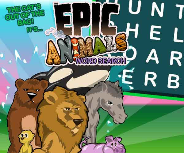 Epic Animals Word Search