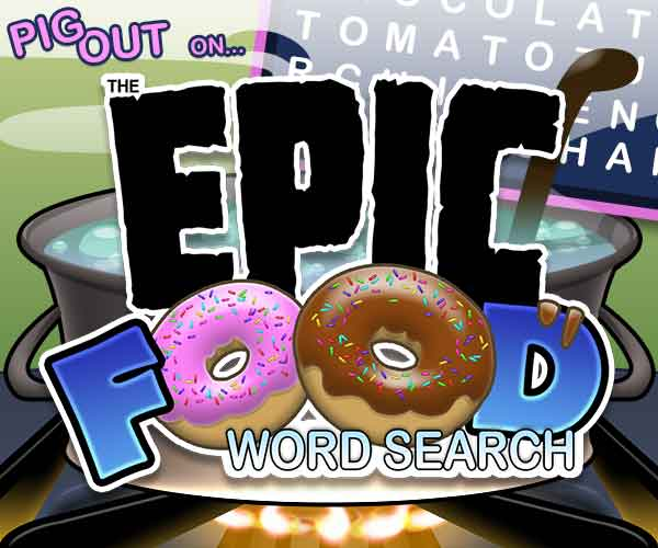Epic Food Word Search