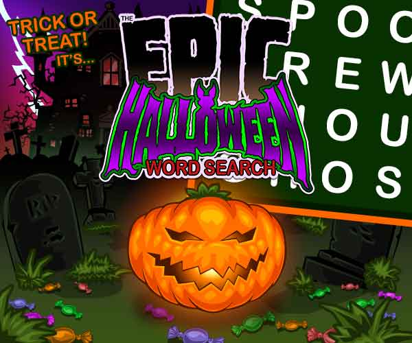 Epic Halloween Word Search