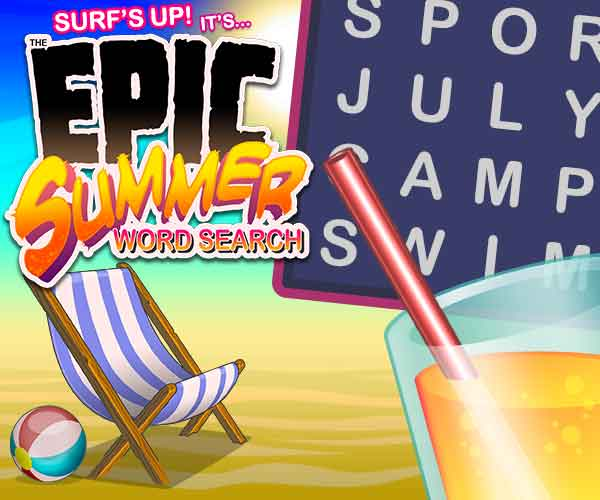 Epic Summer Word Search